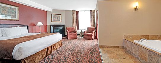 Ramada by Wyndham Niagara Falls Fallsview - Jr. Presidential Whirlpool Suite with Fireplace and Private Balcony - Dining Voucher Included